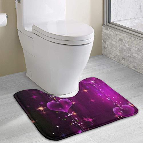Nautische Ernte (Hoklcvd Personalisierte Toilette Teppich-Rot liebt Toilette U-förmige MatCartoon weiche Matte Dusche Boden Teppich Badezimmer)