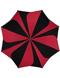 pierre cardin Regenschirm Taschenschirm Auf-Zu Automatik Sunflower schwarz rot