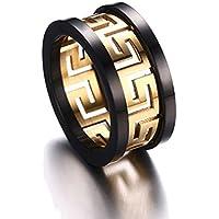 Yc Top Fashion Personalizza in acciaio inox placcato oro-Anello da uomo - Drink Sake