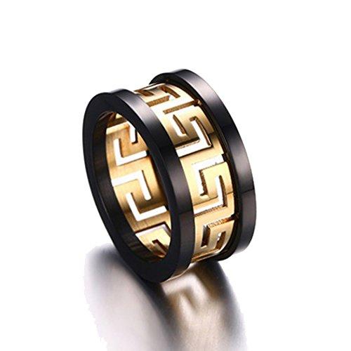 Yc Top Fashion Personalizza in acciaio inox placcato oro-Anello da uomo, acciaio inossidabile, 24,5, colore: oro, cod. Y-TPnjz16-11