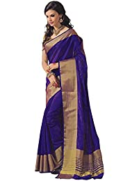 Perfectblue Women`s Cotton Silk Saree With Blouse Piece(PBGOLDdentin_gold)