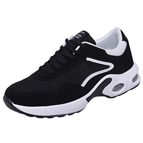 LILIHOT Frauen Sportschuhe Paar Modelle Laufschuhe fliegen gewebt Mesh Freizeitschuhe Mode Laufsocken Schuhe Damen Studenten elastische dünne Stiefeletten rutschfeste Schuhe Mesh-Schuhe (44, B Weiß)