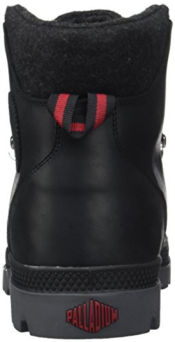 Sneaker Uomo Palladio Pallak Hikr H High Nero (nero / Rosso / Castlerock)
