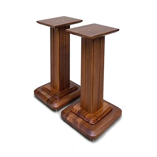 Standfüße Lautsprecherständer Monitorständer Bücherregal Lautsprecherständer Audio-Ständer Wohnzimmer-Blumenständer Heimkino-Surround-Regal EIN Paar (Color : Wood Color, Size : 28 * 28 * 50cm)