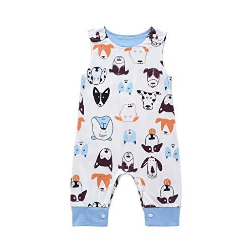 erall Baby,Neugeborene Kinder Baby Jungen Cartoon Tier Print Spielanzug Overalls Kleidung Sommer,Jumpsuit Strampler Bodysuit Säugling Spielanzug Schlafanzug Outfit ()