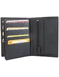 Frédéric&Johns® - Grand portefeuille en cuir de vachette véritable très pratique avec 4 volets - 24 emplacements pour cartes - cuir grainé souple de qualité - homme ou femme -