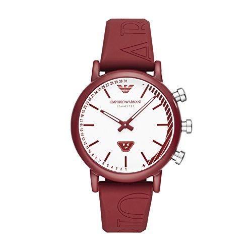 b6e2487e5507 Emporio Armani Reloj Analógico para Hombre de Cuarzo con Correa en Silicona  ART3024