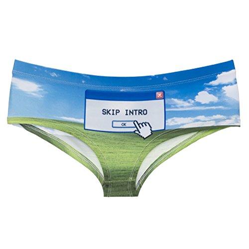 Funny Panties Company© Stampa 3D Mutandine Stampare/Motivo/Design Taglia Unica Unisex Primavera Estate 2017 SKIP INTRO 41119