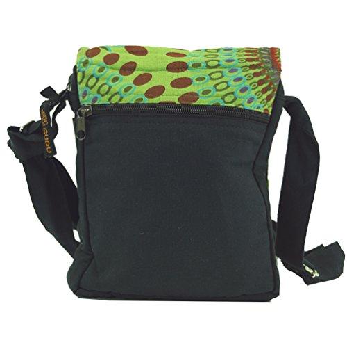 Kleine Schultertasche, Hippie Tasche, Goa Tasche / Schultertaschen Grün