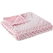 Plaid para pie de cama romántico rosa de poliéster para dormitorio France - Lola Derek