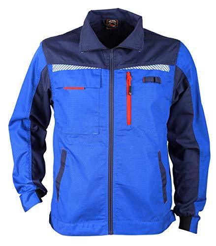 Stenso Prisma® - Giacca da Lavoro Estiva Multifunzione con Strisce Riflettenti - Slim Fit - Blu Reale - 50