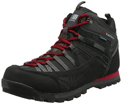 Karrimor Spike Mid 3 Weathertite, Zapatillas de Senderismo para Hombre, Negro Black Red, 44 EU