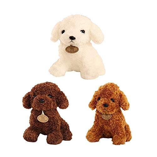 SMACO Niedliche Hund Plush Toys Lovely Pudle Hund ausgestopft Stuffed Creative Dog Pillow Doll Soft Cushion Geschenk