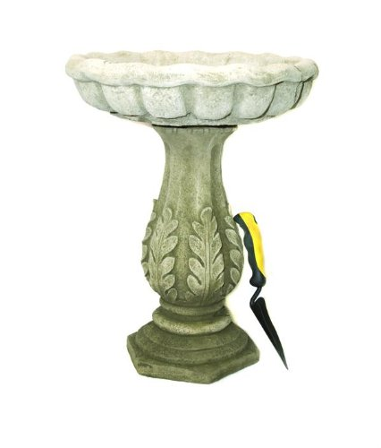 Classic Design Leaf Garden Bird Bath Stone Cast