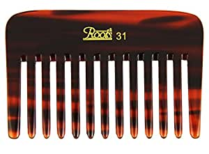 Roots Hair Combs - Brown Wide Teeth Comb for Wavy/Curly Thick Short Hair and Travel