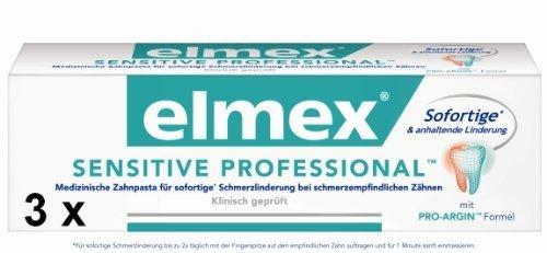 3 elmex Sensitive Professional Zahnpasta 75 ml