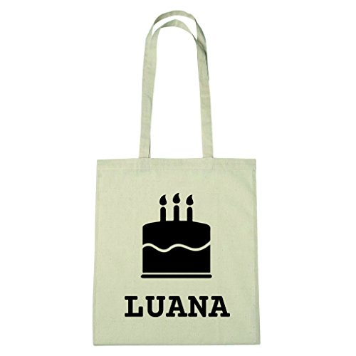 JOllify Borsa in cotone – Happy Birthday per LUANA – BHB5659, Kuchen