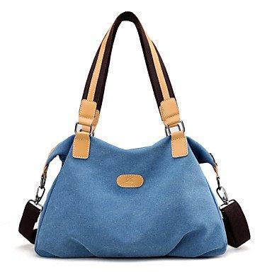 SUNNY KEY-Borsa a tracolla @ Donna Borsa a tracolla Corda Per tutte le stagioni Secchiello Cerniera Blu Grigio Viola Caffè , gray blue