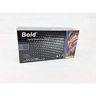 Aurelia 5971580 Bold Nitrile Powder-Free Examination Medium-Box of 100 Gloves, Black