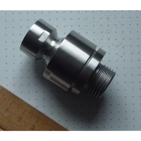 DeLanwa, 607138.0, Palla adattatore in acciaio inox perno Giunto per soffione spazzolato 1/2 pollice