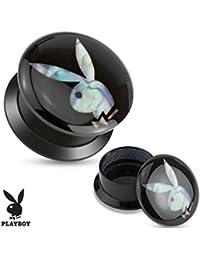 Playboy Adulto imitación negro tornillo de acrílico Fit Stash Plug