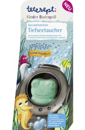 Froschform Sprudeltablette TIEFSEETAUCHER in Geschenkverpackung (50 g) KINDER BADESPASS