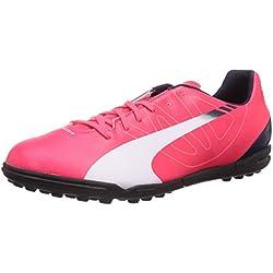 Puma evoSPEED 5.3 TT, Scarpe da calcio uomo Viola / lime / Blu, Rosso (Rosso (bright plasma-white-peacoat 05)), 43