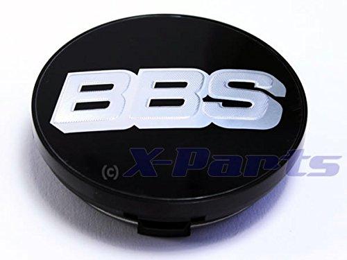 BBS Couvercle de jante emblème Noir Chromé Argent 70 mm bb0924494 neuf avec anneau de retenue