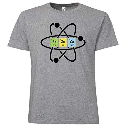 ShirtWorld - BaZnGa - Herren T-Shirt Grau Melange M