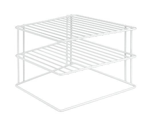 Metaltex Silos - Rinconera de 3 estantes, color blanco