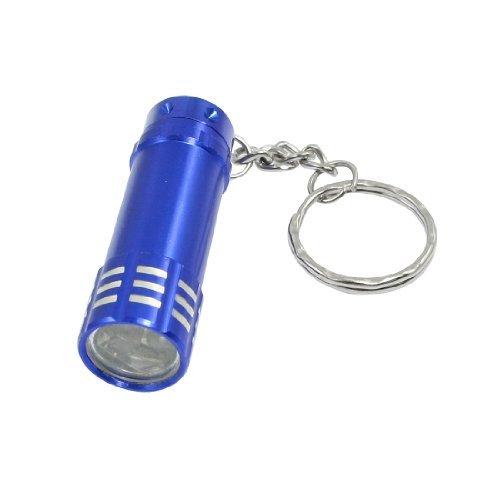Zylinder geformt 3 weiße LEDs Licht Hand drücken Taschenlampe als Schlüsselanhänger -