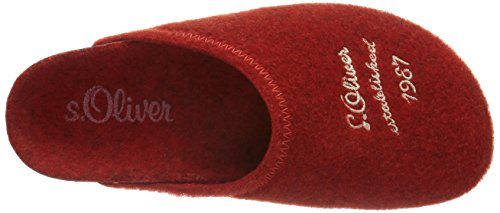 s.Oliver 47100, Chaussons mixte enfant Rouge (Red/Offwhite 511)