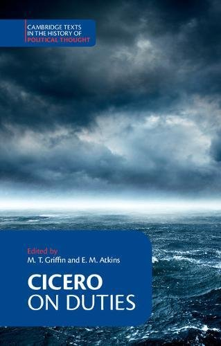 Cicero:  On Duties  Paperback (Cambridge Texts in the History of Political Thought) por Cicero