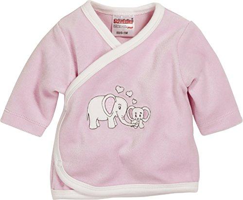 Schnizler Unisex Baby Hemd Wickelshirt, Flügelhemd, Erstlingshemd Nicki Langarm, Oeko Tex Standard 100, Gr. 56, Rosa (rose 14)