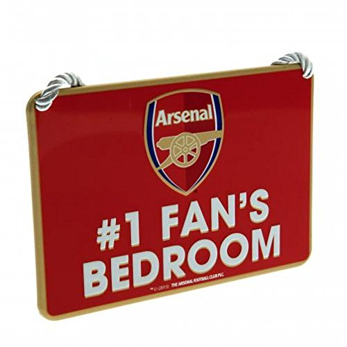 Arsenal FC Official Football Gift Bedroom Sign No1 Fan - A Great Christmas   Birthday Gift Idea For Men And Boys