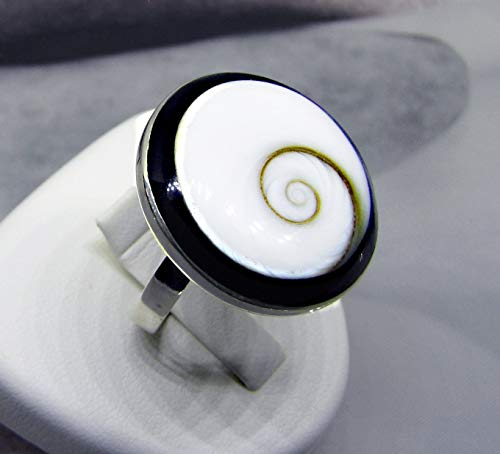 Meer Juwel - Ring Frau Shell weiß silber - Lucia Œil - Sommer in Œil von Shiva