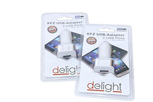 RMB 2er Set KFZ-USB-Adapter Ladekabel-Anschluß 2-fach Auto 12V Buchse