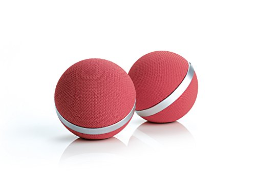 Aiptek air2U Music Speaker E30 Bluetooth kabelloser Stereo Lautsprecher für Smartphone, Tablet, Notebook (Bluetooth, AUX, USB) rosa, pink