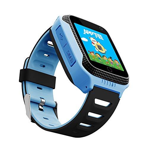 Q528 GPS Smart Watch Mit Kamerataschenlampe Baby-Uhr SOS-Standortbestimmung GeräTe-Tracker FüR Kid Safe Pk Q100 Q90 Q60 Q50,Blue