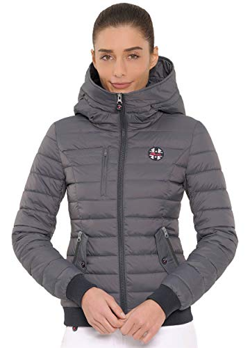 SPOOKS Damen Jacke, leichte Damenjacke mit Kragen, Herbstjacke - Jana Jacket Dark Grey M