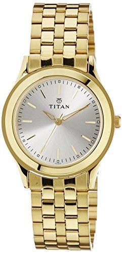41jGO6zWGuL - Titan 1648YM01 Silver Mens watch