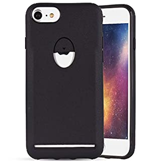 Case iPhone 8, iPhone 7 Soft TPU Silicone, Amcor Love Ultra Thin Anti-Scratch Caramel Colour Case for 4.7 Inch Apple iPhone 6/6s/7/8 Black