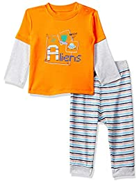 MINI KLUB Baby Boy's Cotton Clothing Set (Pack of 2)