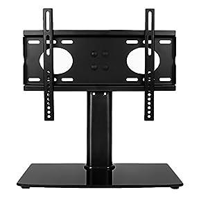 JL Comfurni Meuble TV universel avec socle réglable en hauteur, Basic Support pour télévision à écran plat LCD 66- 81,3cm