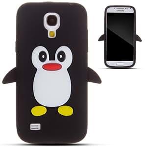Zooky® Noir pingouin silicone Coque / Étui / Cover pour Samsung Galaxy S4 MINI (I9190)