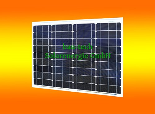 1 Stück 50 Watt Solarmodul Solarpanel Photovoltaik Solarzelle monokristallin von bau-tech Solarenergie GmbH