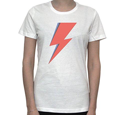 Ziggy Lightning Fan Art Graphic Women's T-Shirt Blanc