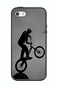 Schutzhülle Design BMX Sport Extreme BM08Für iPhone 4/4S Border Gummi Silikon Tasche Schwarz @ pattayamart