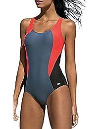 LORIN Badeanzug fur Damen Endurance einteiliger Schwimmanzug Vorgeformte BH- Cups c2771f877f