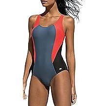 3b3f51ef771c LORIN Badeanzug fur Damen Endurance einteiliger Schwimmanzug Vorgeformte  BH-Cups